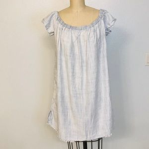 Anthropologie Cloth and Stone Frilled Off Shoulder
